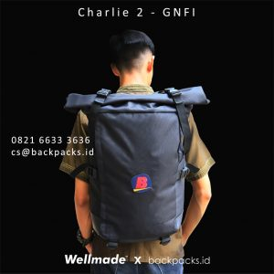 backpack custom model bebas bhinneka.com hitam
