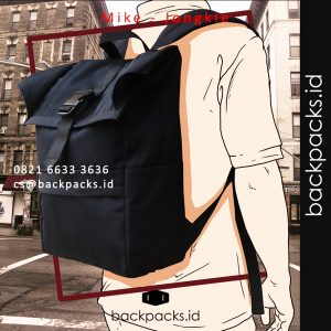 backpack custom logo model bebas - mike - jongkie